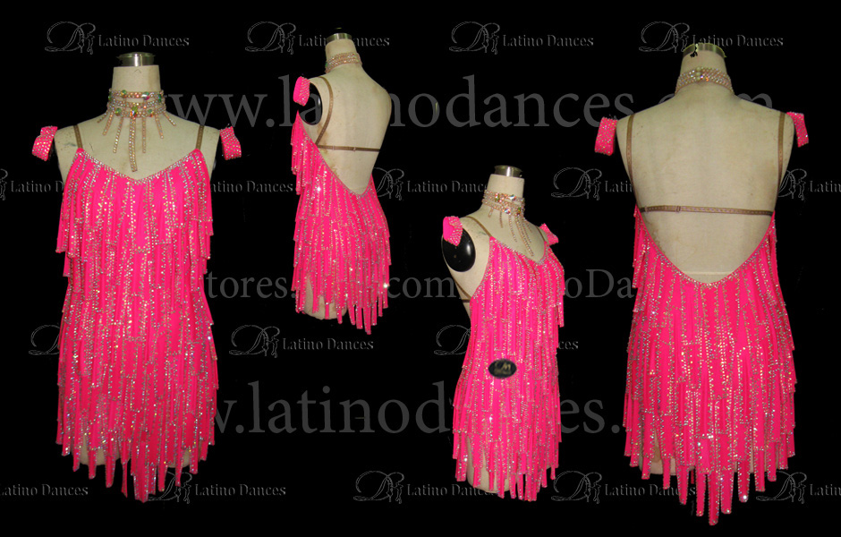 LATINO DANCE DRESS COMPETITION WITH HIGH QUALITY STONE M411