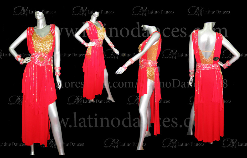 LATINO DANCE DRESS COMPETITION WITH HIGH QUALITY STONE M412