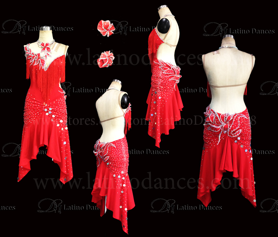 LATINO DANCE DRESS COMPETITION WITH HIGH QUALITY STONE M413