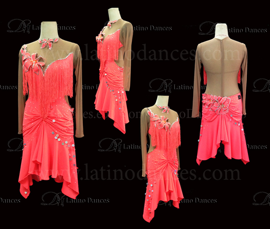LATINO DANCE DRESS COMPETITION WITH HIGH QUALITY STONE M413A