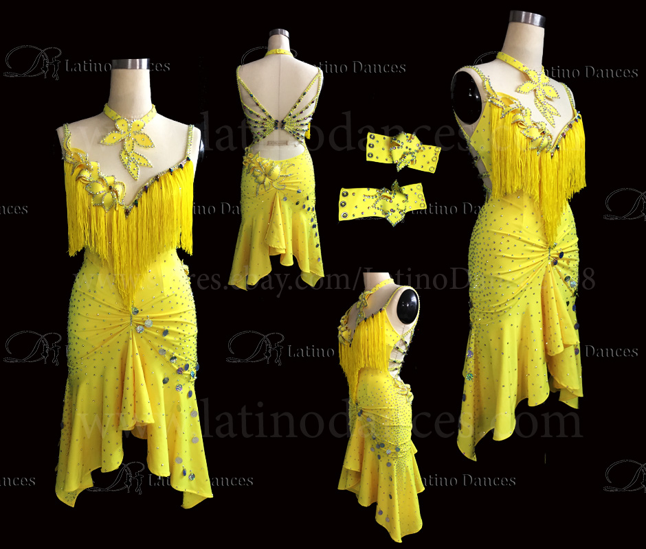 Latin  Dance Tailored Dress With High Quality stones M413B