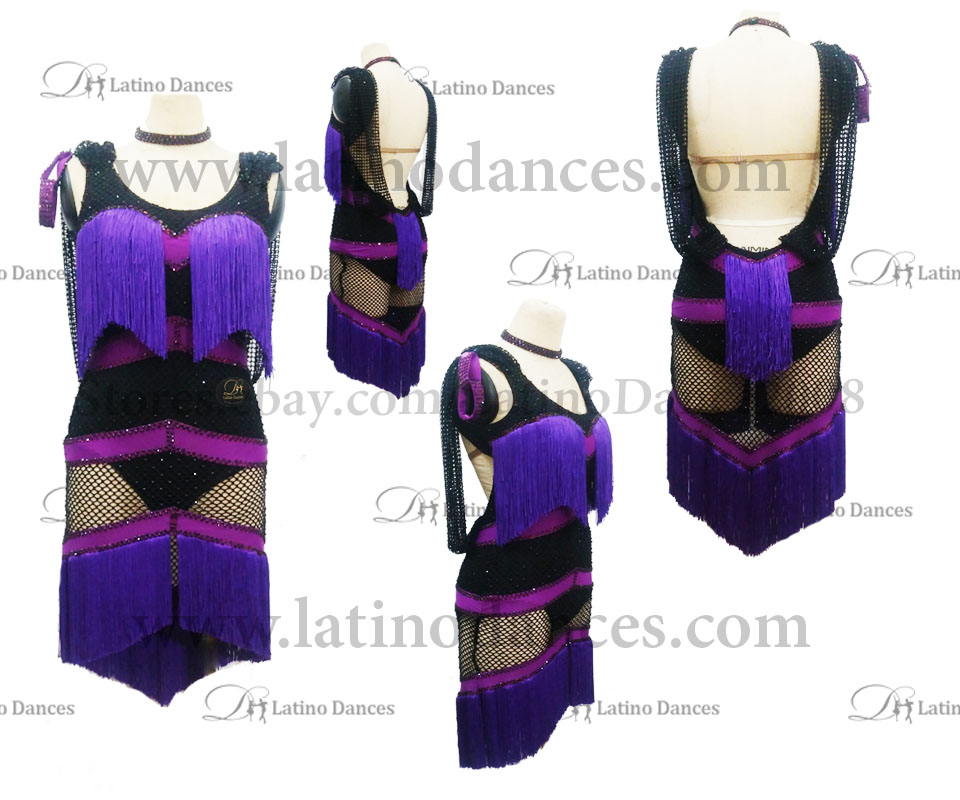LATINO DANCE DRESS COMPETITION WITH HIGH QUALITY STONE M416