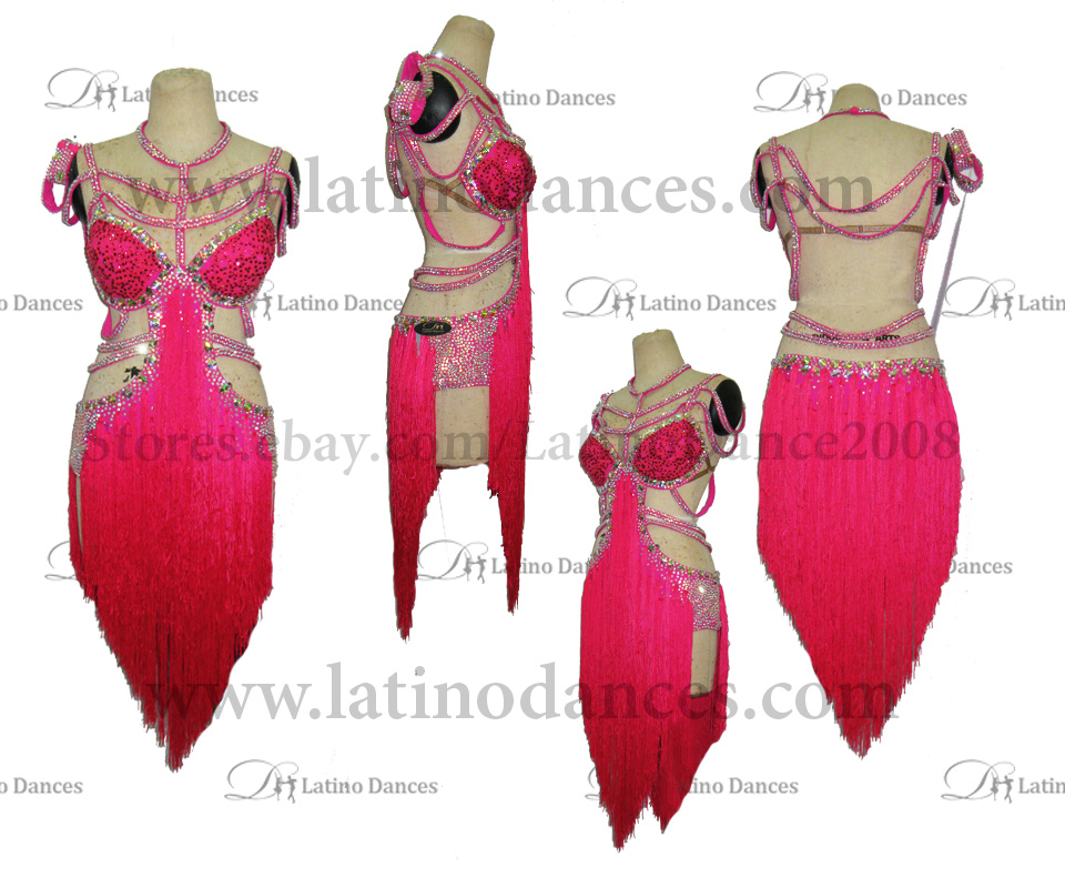 LATINO DANCE DRESS COMPETITION WITH HIGH QUALITY STONE M418