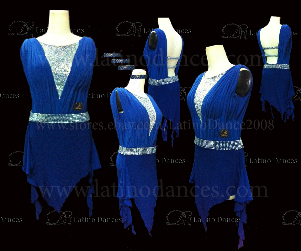 LATINO DANCE DRESS COMPETITION WITH HIGH QUALITY STONE M419
