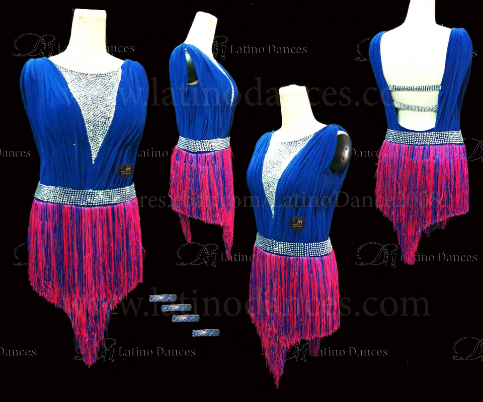 LATINO DANCE DRESS COMPETITION WITH HIGH QUALITY STONE M419A
