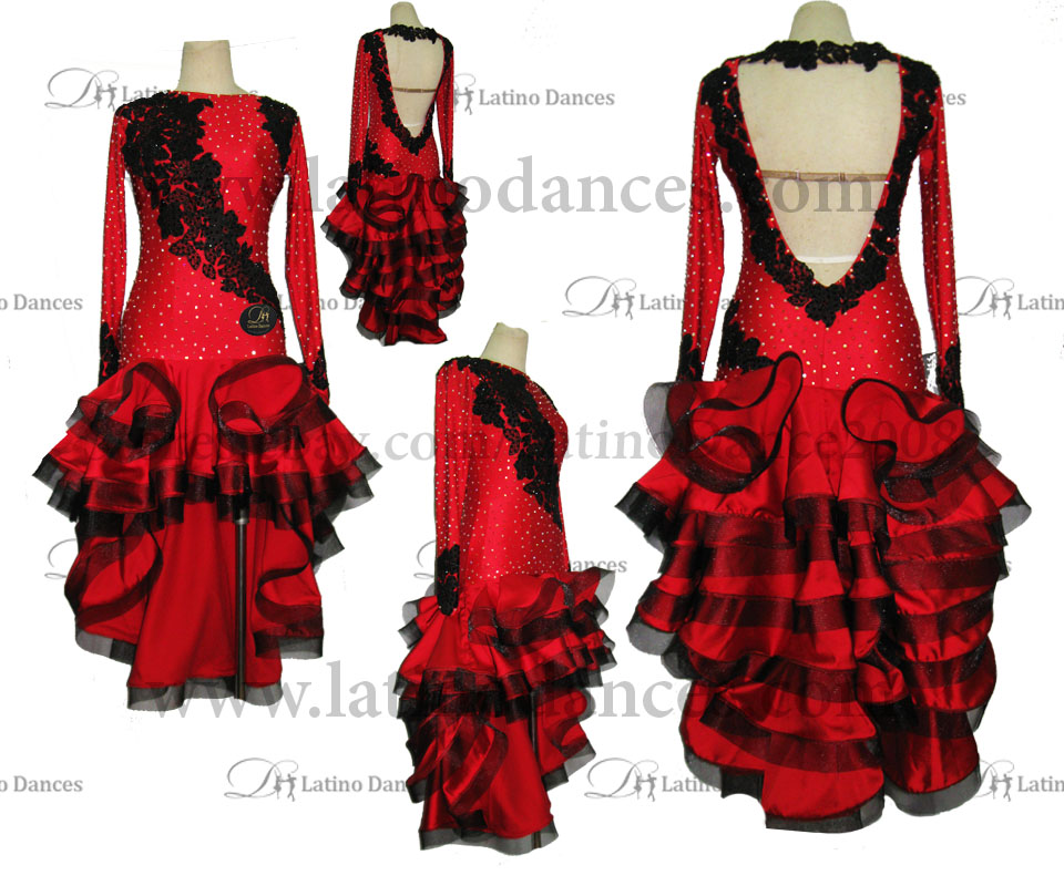 LATINO DANCE DRESS COMPETITION WITH HIGH QUALITY STONE M421