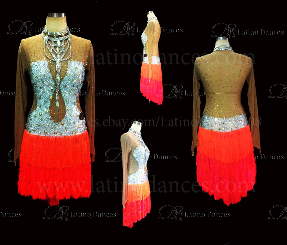 LATINO DANCE DRESS COMPETITION WITH HIGH QUALITY STONE M423