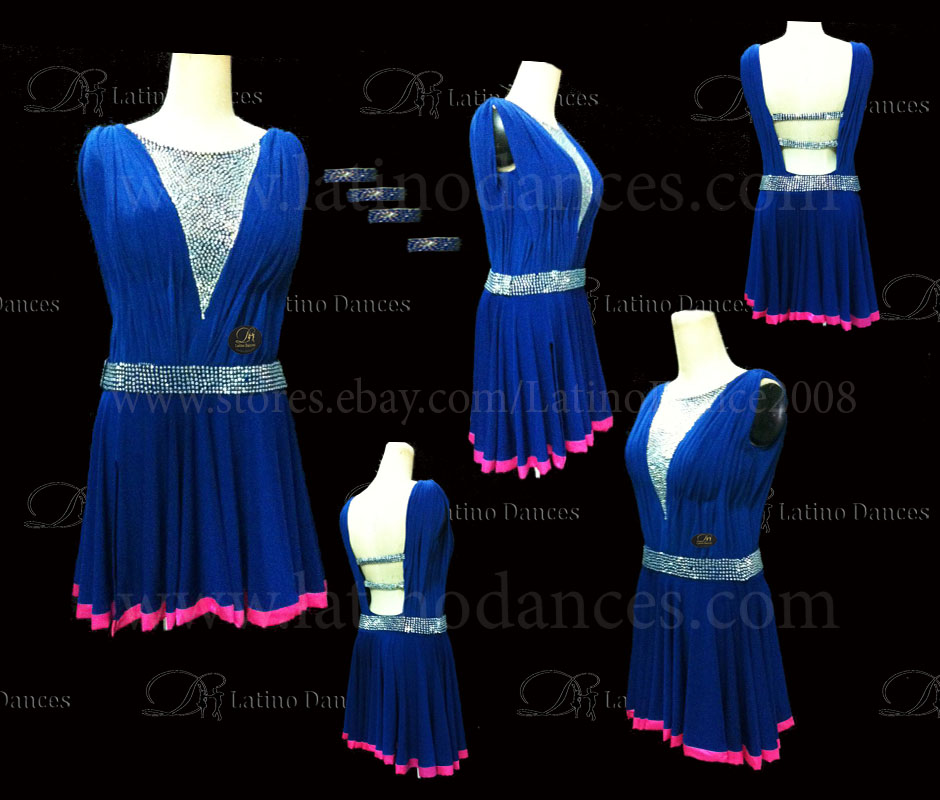LATINO DANCE DRESS COMPETITION WITH HIGH QUALITY STONE M419B