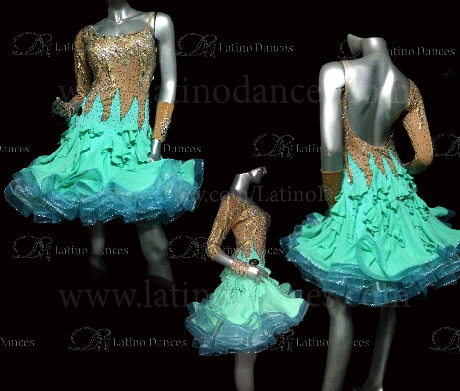 LATINO DANCE DRESS COMPETITION WITH HIGH QUALITY STONE M426