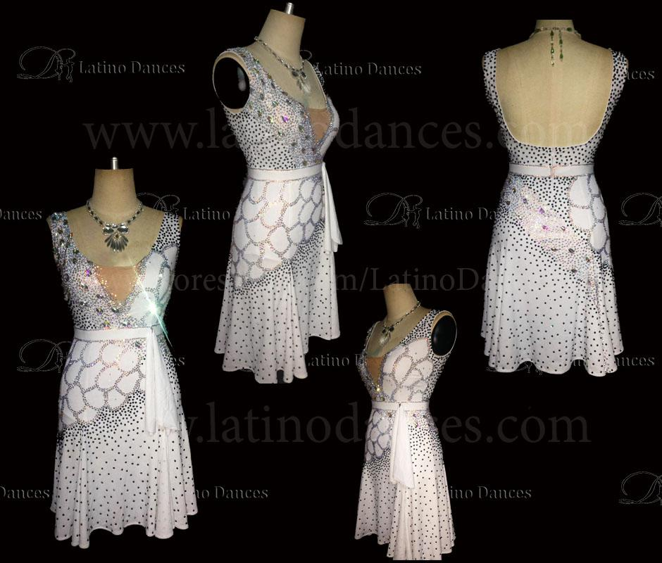 LATINO DANCE DRESS COMPETITION WITH HIGH QUALITY STONE M432