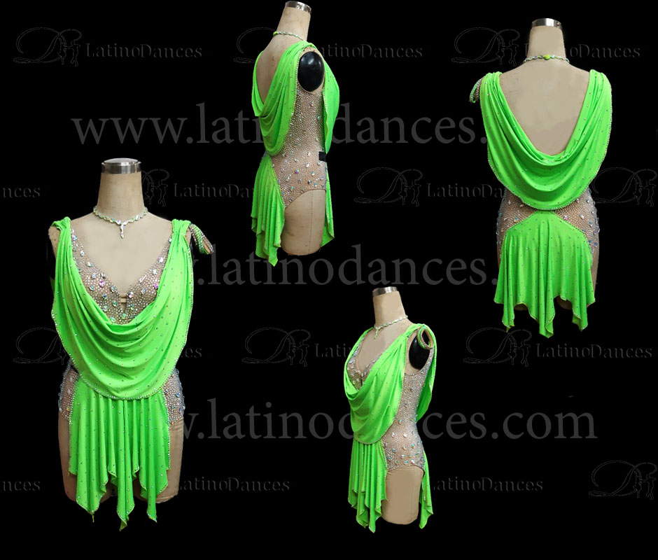 LATINO DANCE DRESS COMPETITION WITH HIGH QUALITY STONE M434