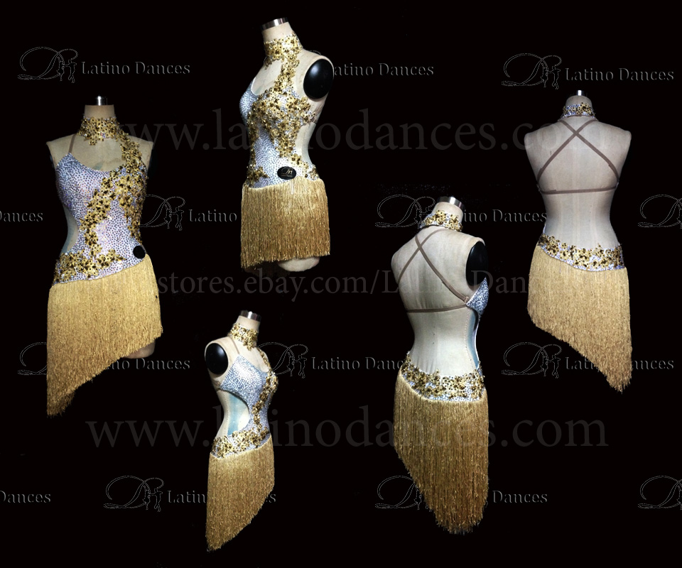 LATINO DANCE DRESS COMPETITION WITH HIGH QUALITY STONE M435