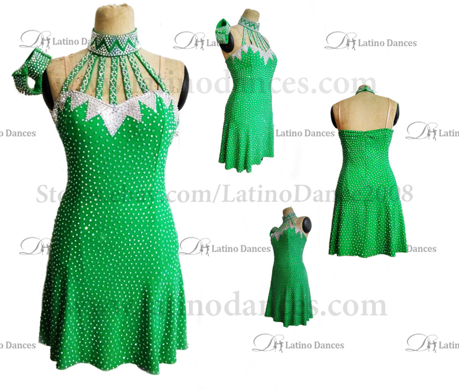 LATINO DANCE DRESS COMPETITION WITH HIGH QUALITY STONE M436