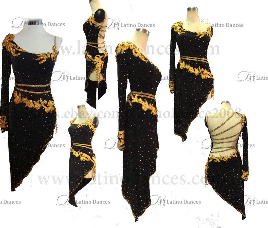 LATINO DANCE DRESS COMPETITION WITH HIGH QUALITY STONE M438