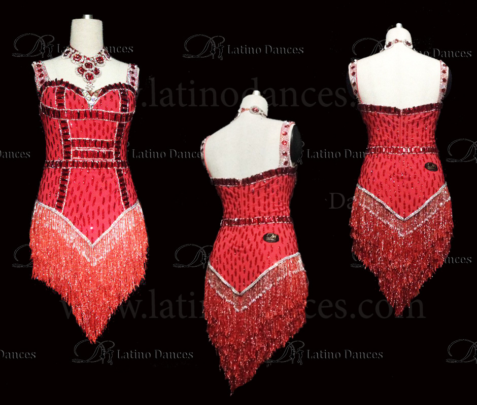 LATINO DANCE DRESS COMPETITION WITH HIGH QUALITY STONE M439