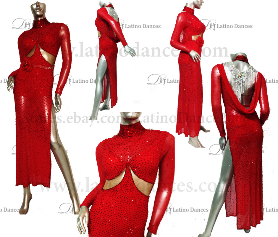 LATINO DANCE DRESS COMPETITION WITH HIGH QUALITY STONE M441