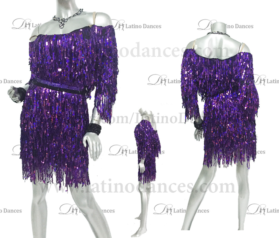 LATINO DANCE DRESS COMPETITION WITH HIGH QUALITY STONE M442