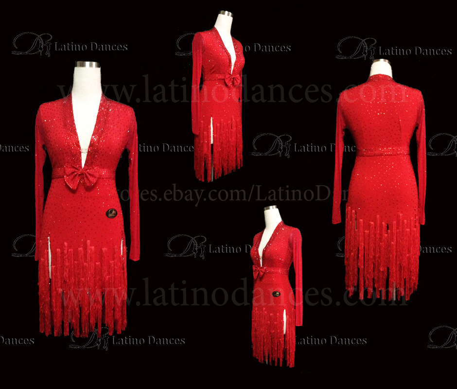 LATINO DANCE DRESS COMPETITION WITH HIGH QUALITY STONE M445