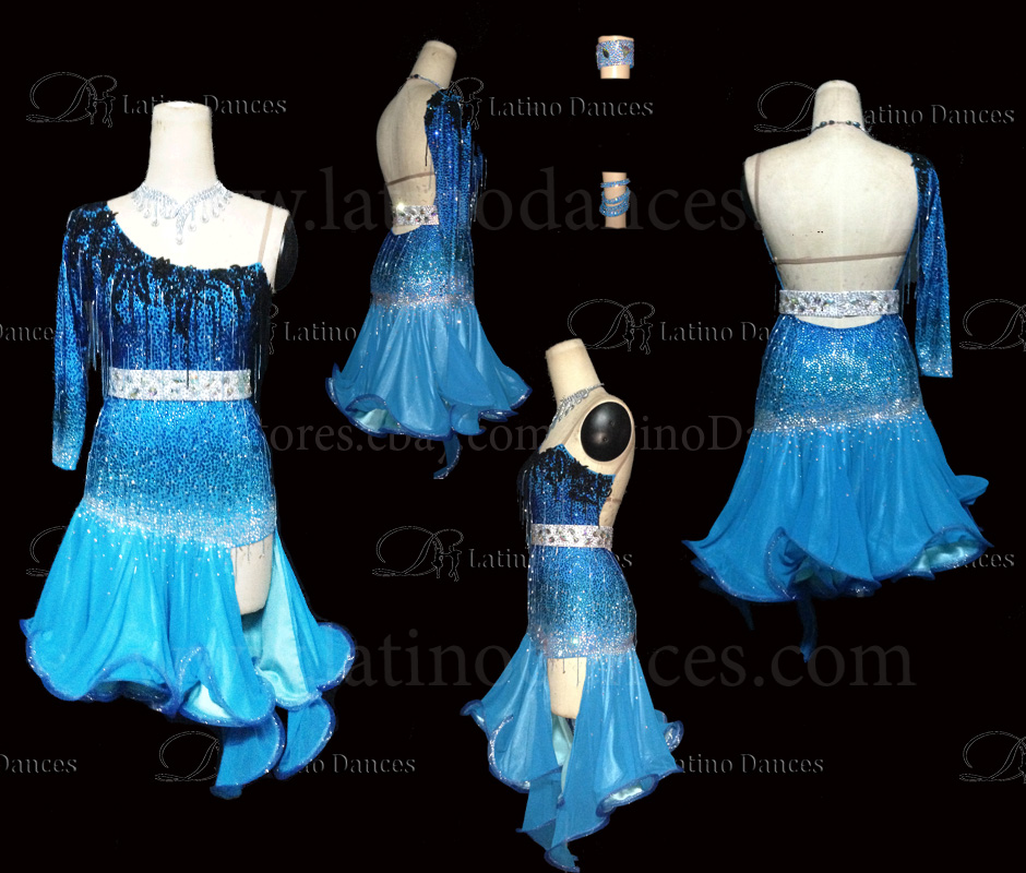 LATINO DANCE DRESS COMPETITION WITH HIGH QUALITY STONE M447