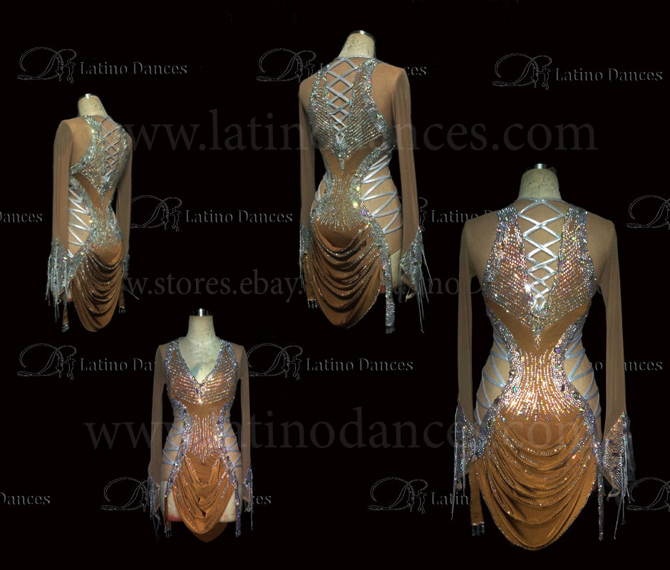 LATINO DANCE DRESS COMPETITION WITH HIGH QUALITY STONE M448