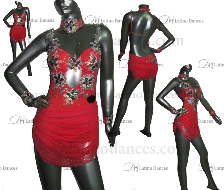 LATINO DANCE DRESS COMPETITION WITH HIGH QUALITY STONE M449