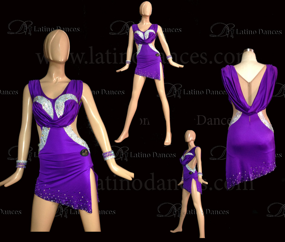 LATINO DANCE DRESS COMPETITION WITH HIGH QUALITY STONE M450