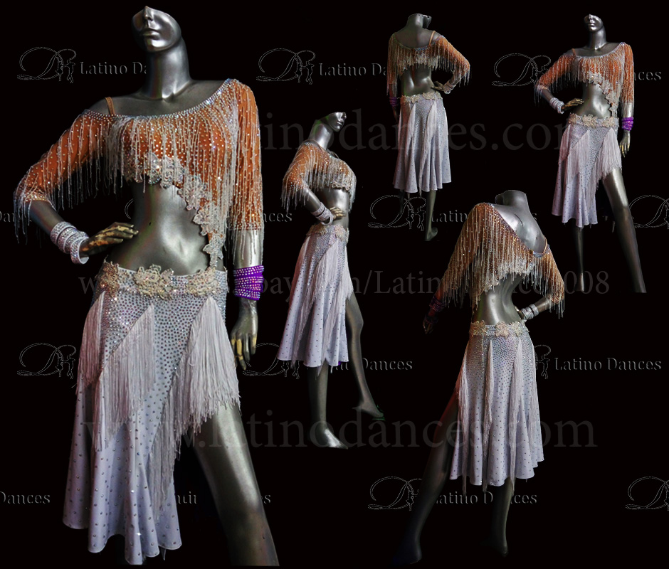 LATINO DANCE DRESS COMPETITION WITH HIGH QUALITY STONE M451