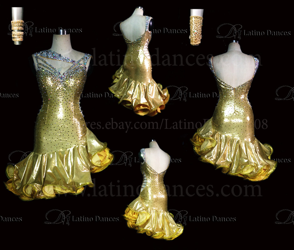 LATINO DANCE DRESS COMPETITION WITH HIGH QUALITY STONE M452