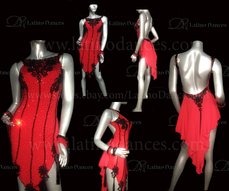 LATINO DANCE DRESS COMPETITION WITH HIGH QUALITY STONE M453