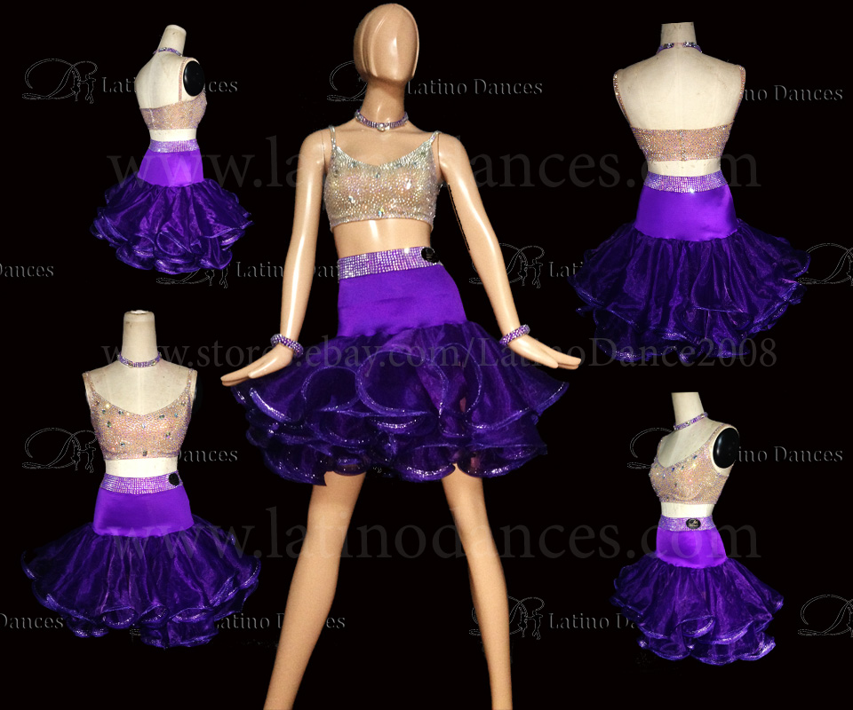 LATINO DANCE DRESS COMPETITION WITH HIGH QUALITY STONE M454