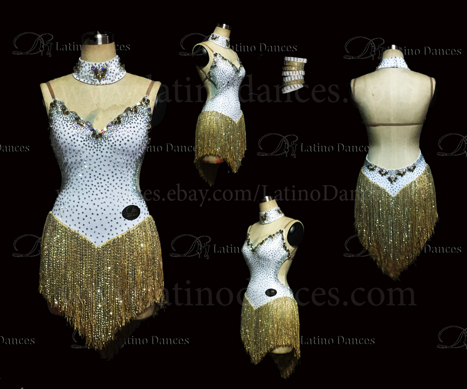 LATINO DANCE DRESS COMPETITION WITH HIGH QUALITY STONE M455