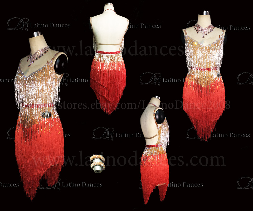 LATINO DANCE DRESS COMPETITION WITH HIGH QUALITY STONE M458