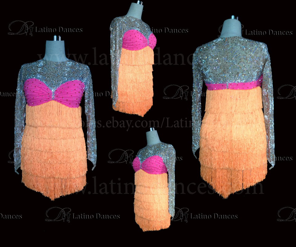 LATINO DANCE DRESS COMPETITION WITH HIGH QUALITY STONE M462