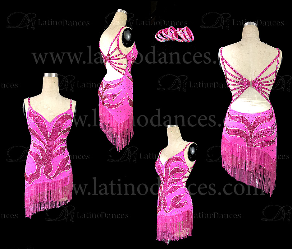 LATINO DANCE DRESS COMPETITION WITH HIGH QUALITY STONE M464