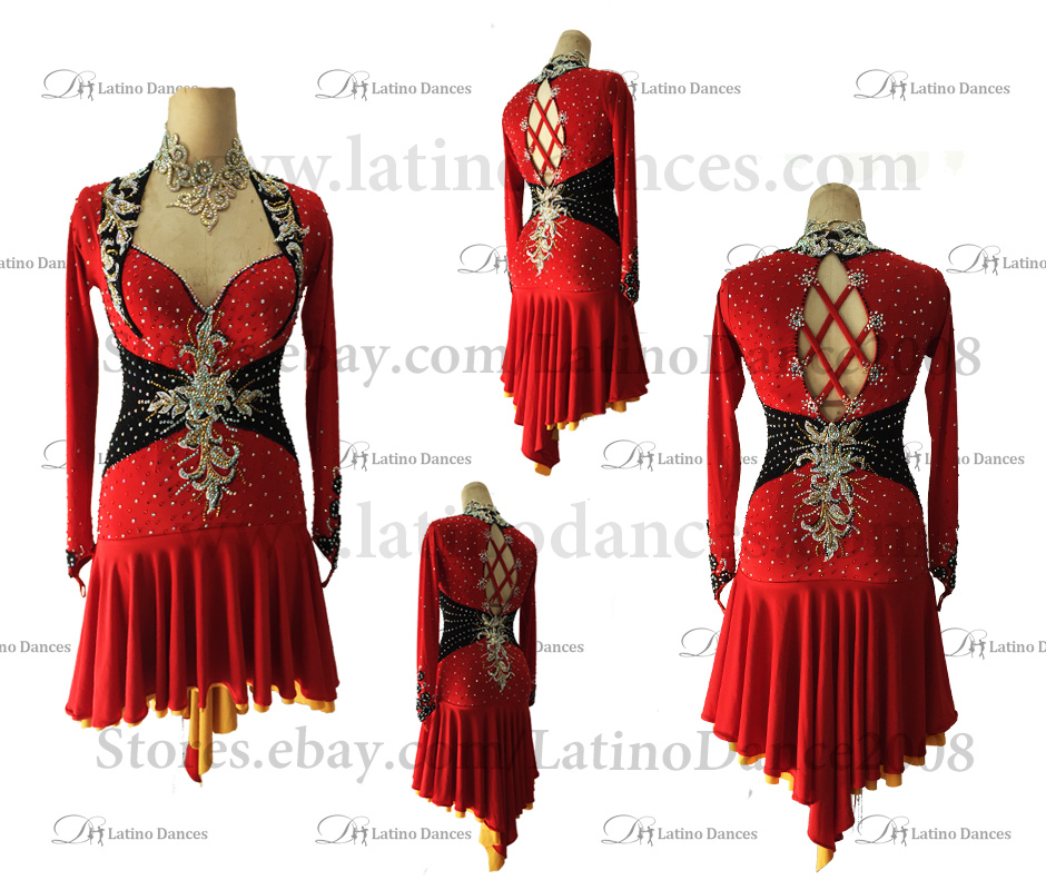 LATINO DANCE DRESS COMPETITION WITH HIGH QUALITY STONE M465