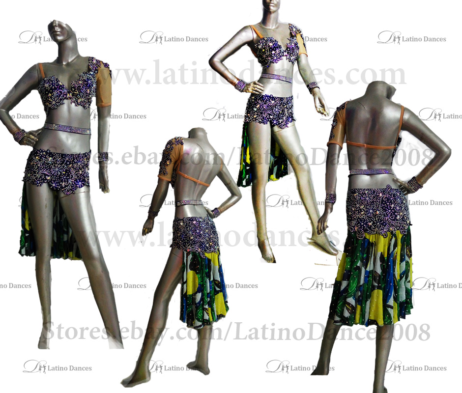 LATINO DANCE DRESS COMPETITION WITH HIGH QUALITY STONE M467