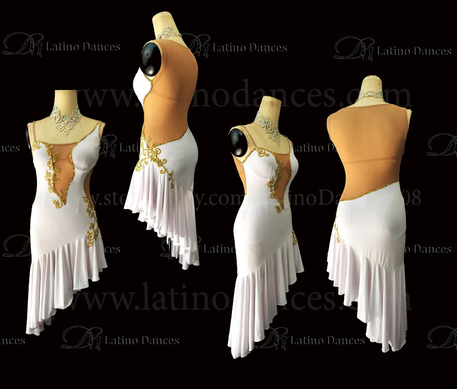 LATINO DANCE DRESS COMPETITION WITH HIGH QUALITY STONE M468