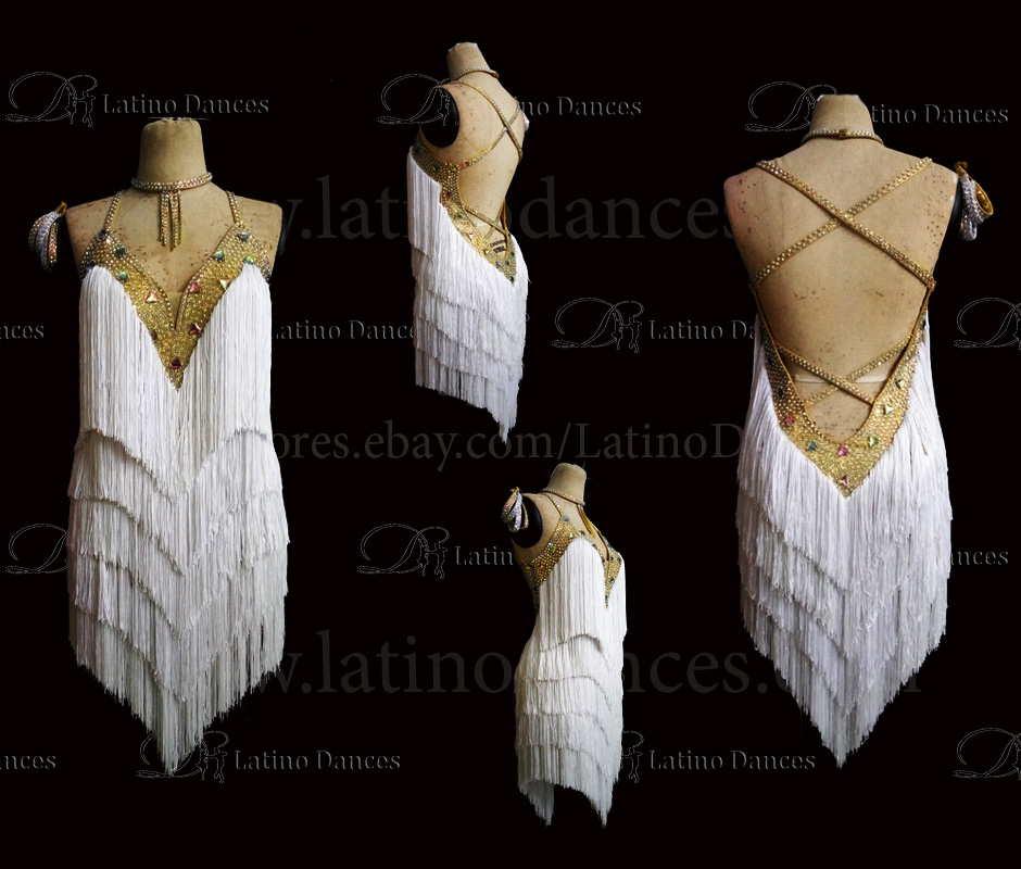 LATINO DANCE DRESS COMPETITION WITH HIGH QUALITY STONE M470
