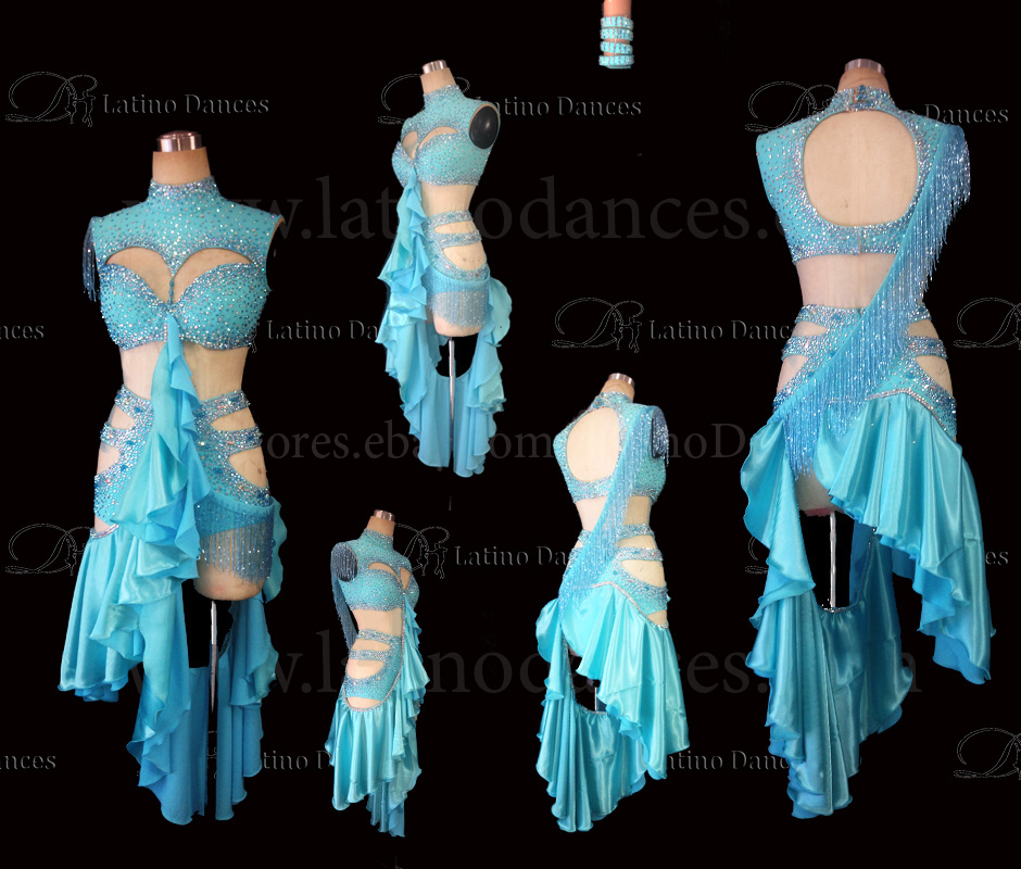 LATINO DANCE DRESS COMPETITION WITH HIGH QUALITY STONE M472
