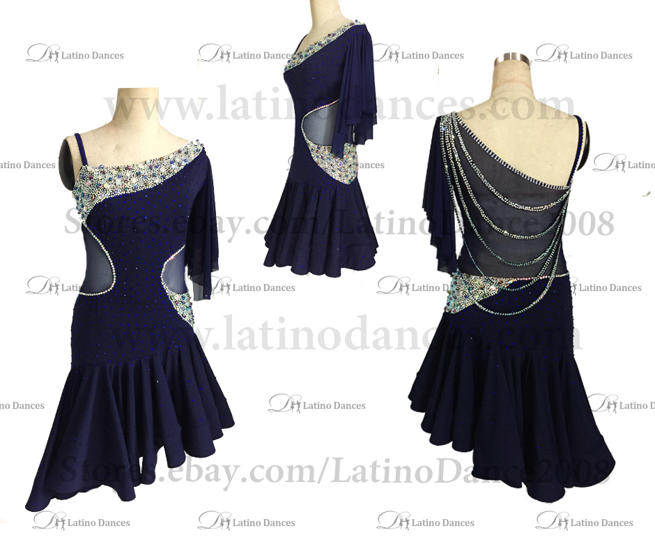 LATINO DANCE DRESS COMPETITION WITH HIGH QUALITY STONE M473