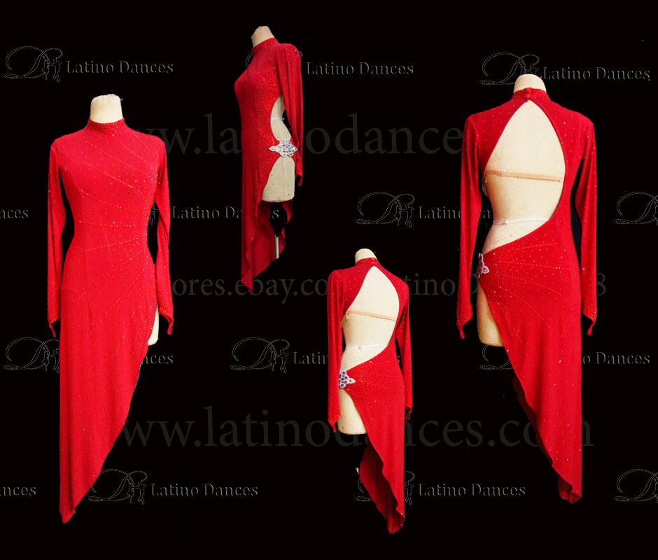 LATINO DANCE DRESS COMPETITION WITH HIGH QUALITY STONE M474