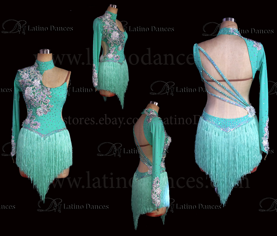 LATINO DANCE DRESS COMPETITION WITH HIGH QUALITY STONE M475