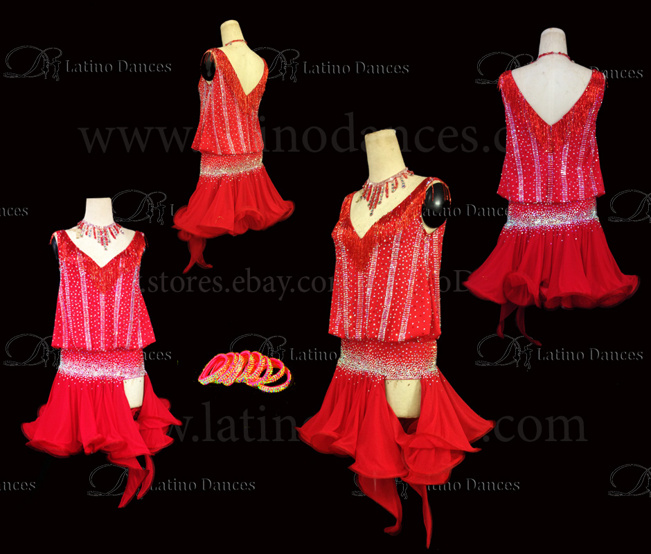LATINO DANCE DRESS COMPETITION WITH HIGH QUALITY STONE M477