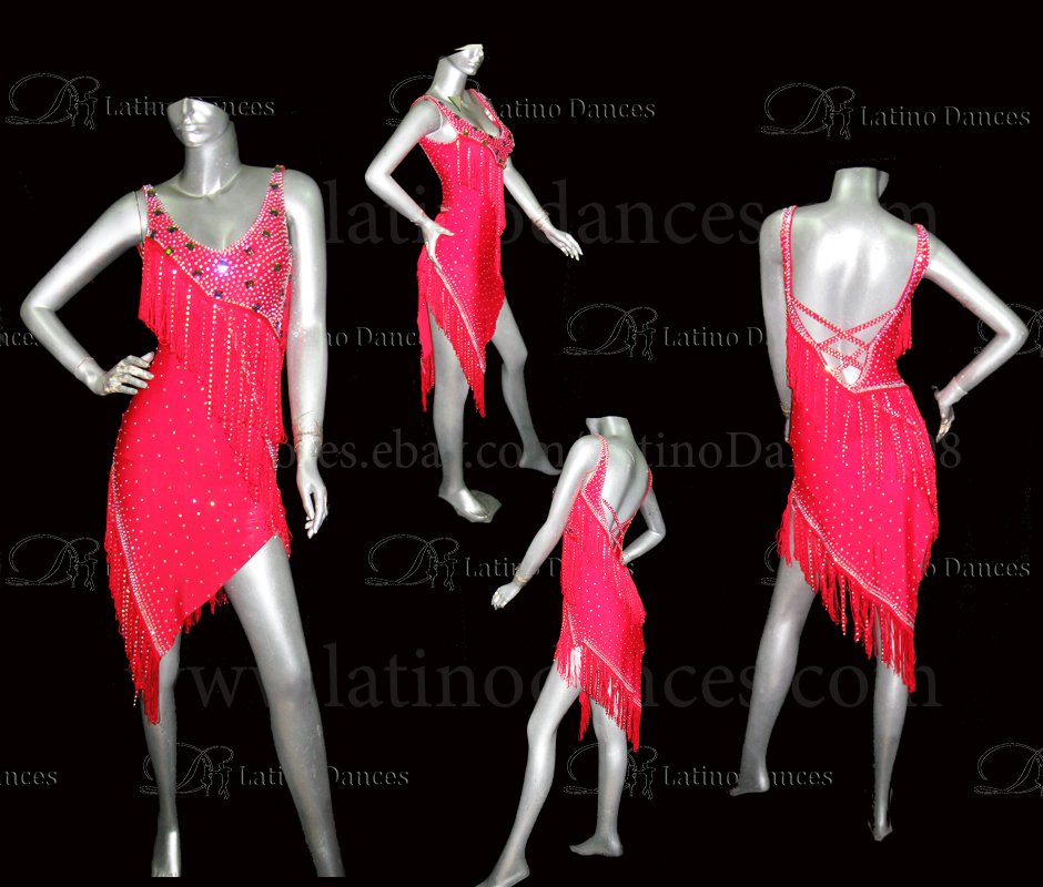 LATINO DANCE DRESS COMPETITION WITH HIGH QUALITY STONE M479