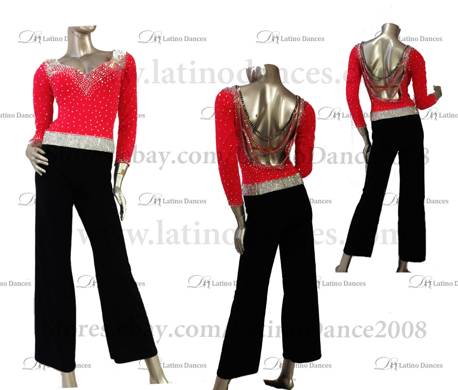 LATINO DANCE DRESS COMPETITION WITH HIGH QUALITY STONE M483