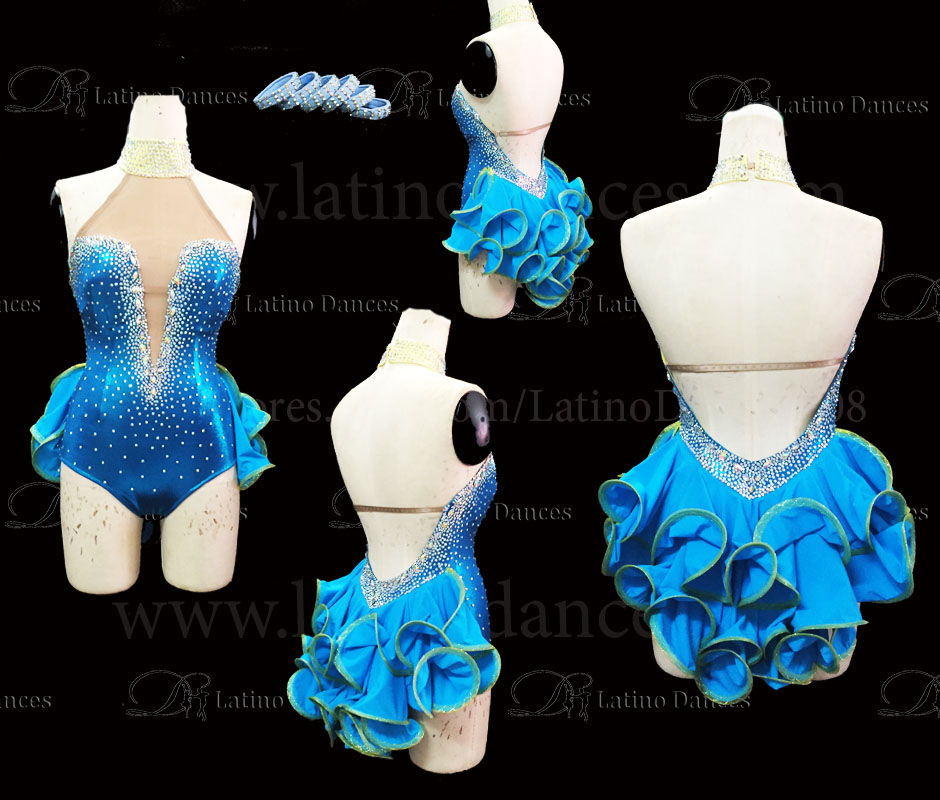 LATINO DANCE DRESS COMPETITION WITH HIGH QUALITY STONE M484