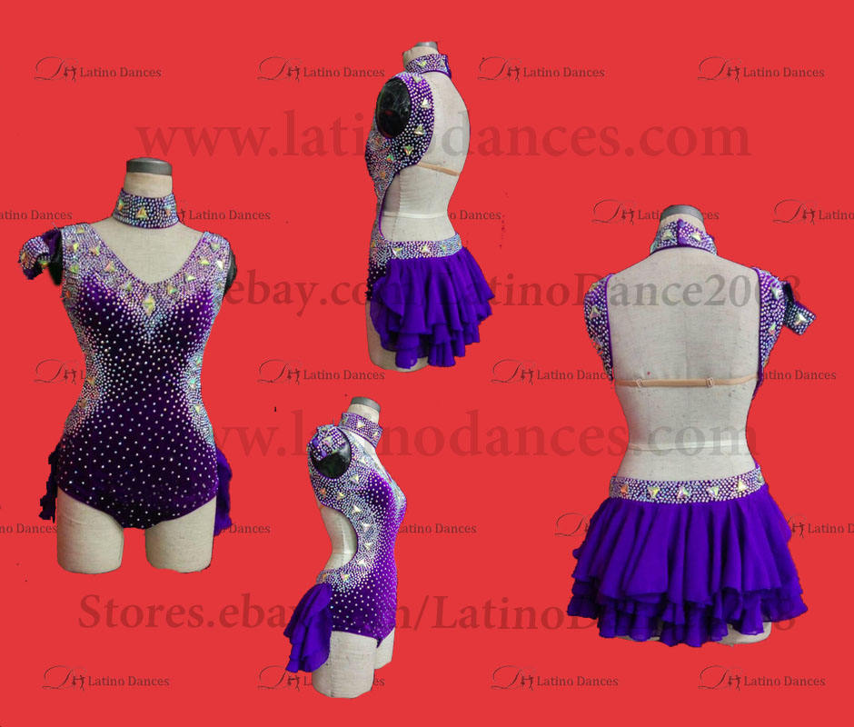LATINO DANCE DRESS COMPETITION WITH HIGH QUALITY STONE M485B
