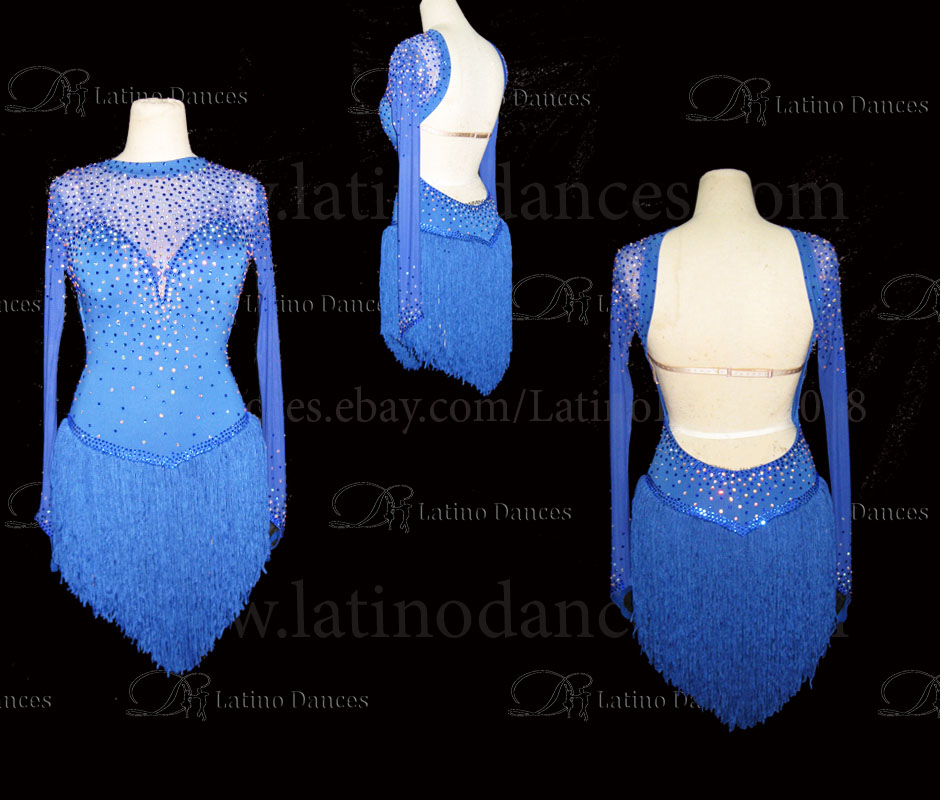 LATINO DANCE DRESS COMPETITION WITH HIGH QUALITY STONE M489