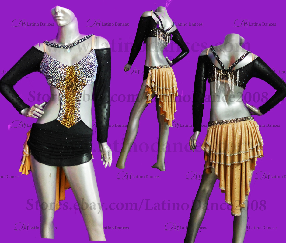 LATINO DANCE DRESS COMPETITION WITH HIGH QUALITY STONE M490