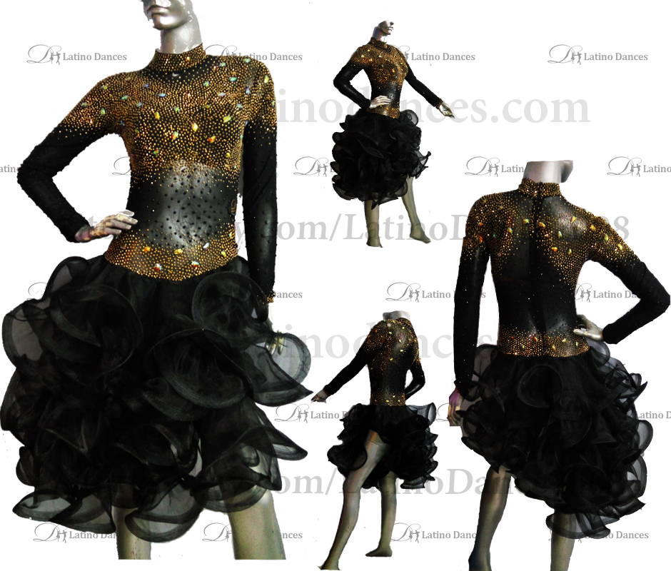 LATINO DANCE DRESS COMPETITION WITH HIGH QUALITY STONE M491